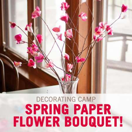 Decoration Idea: Spring Tissue Paper Flowers