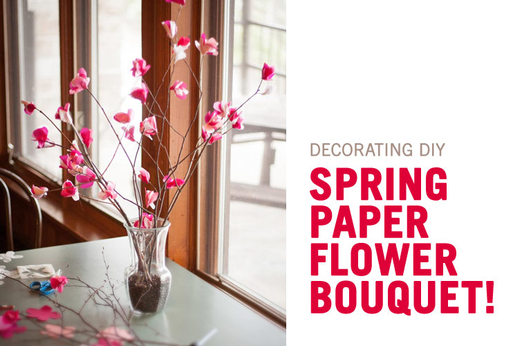 Diy Spring Paper Flower Bouquet Blog Forest Springs Camp