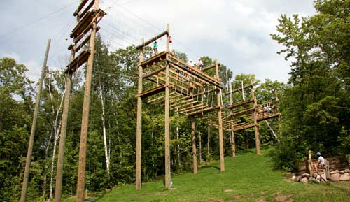 High Ropes Course from the Ground