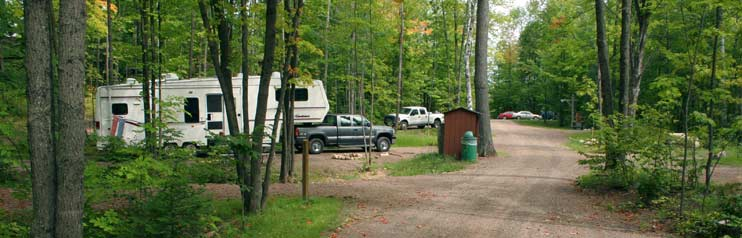 RV Park in the Summer
