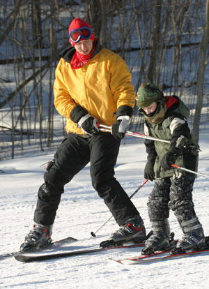 Teaching Skiing Lessons