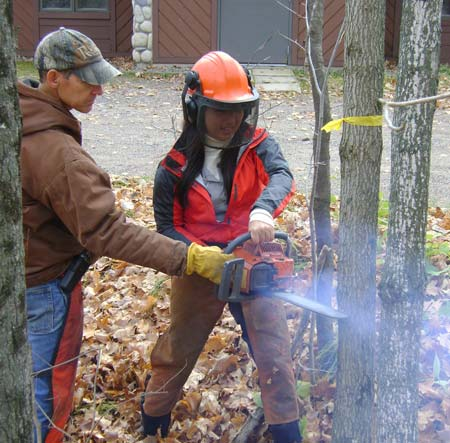Chainsaw class in the Fall